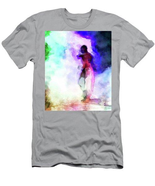 Moment In Blue - African Dancer Men's T-Shirt (Athletic Fit)