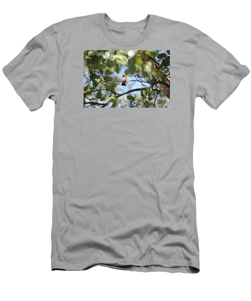 Men's T-Shirt (Slim Fit) featuring the photograph Mommy Watching Babies by Debra     Vatalaro