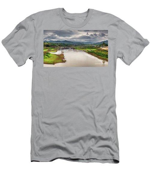 Mon Bridge Thailand Men's T-Shirt (Athletic Fit)