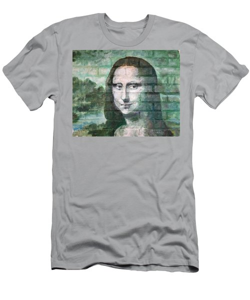 Men's T-Shirt (Slim Fit) featuring the painting Mona Lisa  by Stan Tenney