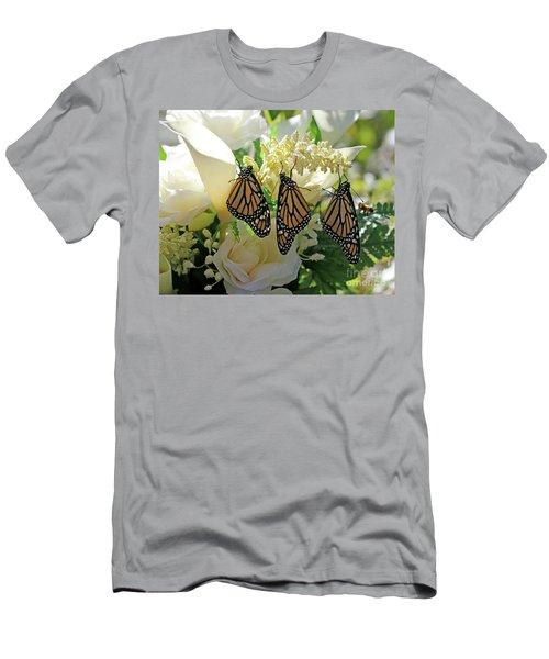 Monarch Butterfly Garden  Men's T-Shirt (Slim Fit) by Luana K Perez