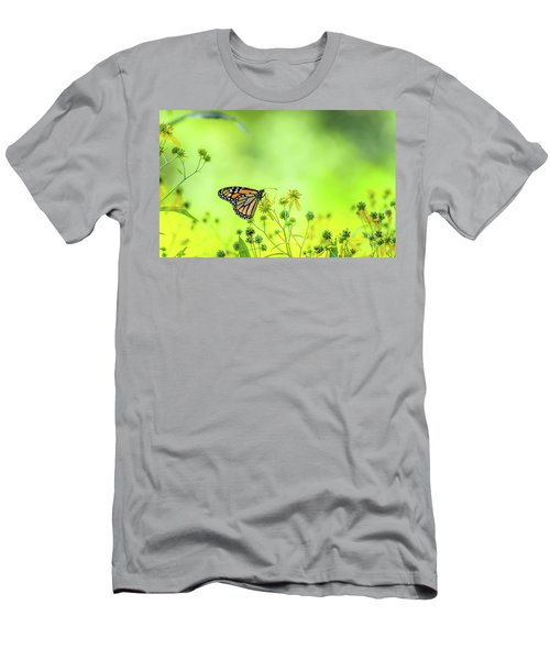 Men's T-Shirt (Athletic Fit) featuring the photograph Monarch Butterfly by Lori Coleman