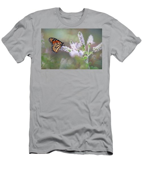 Men's T-Shirt (Slim Fit) featuring the photograph Monarch On Mint 1 by Lori Deiter