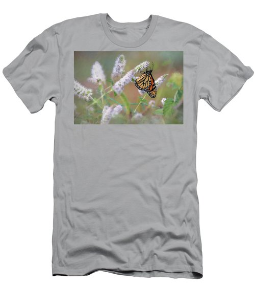 Men's T-Shirt (Slim Fit) featuring the photograph Monarch On Mint 2 by Lori Deiter