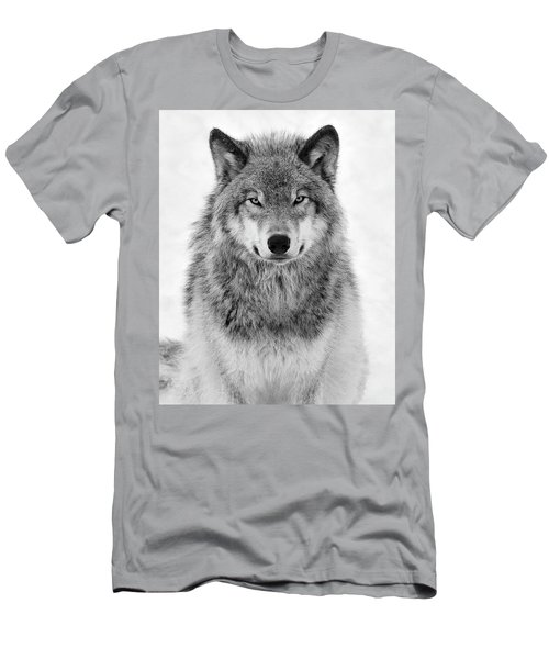 Monotone Timber Wolf  Men's T-Shirt (Slim Fit) by Tony Beck