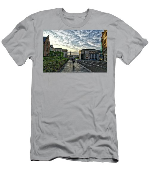 Mont Des Arts Hdr Men's T-Shirt (Athletic Fit)
