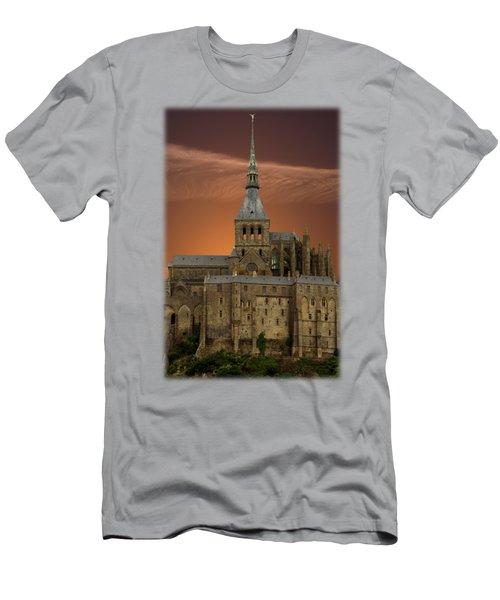 Mont Saint Michel Men's T-Shirt (Athletic Fit)