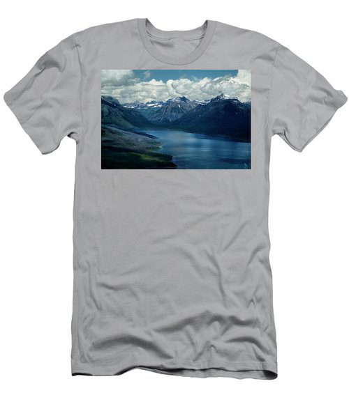 Montana Mountain Vista And Lake Men's T-Shirt (Athletic Fit)