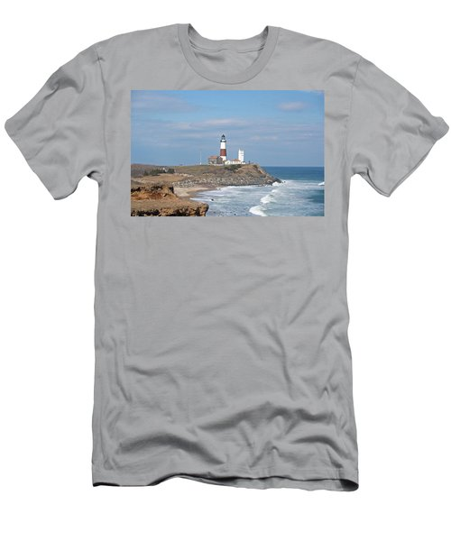 Montauk Lighthouse View From Camp Hero Men's T-Shirt (Athletic Fit)