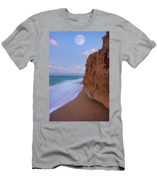 Moon Over Hutchinson Island Beach Men's T-Shirt (Athletic Fit)
