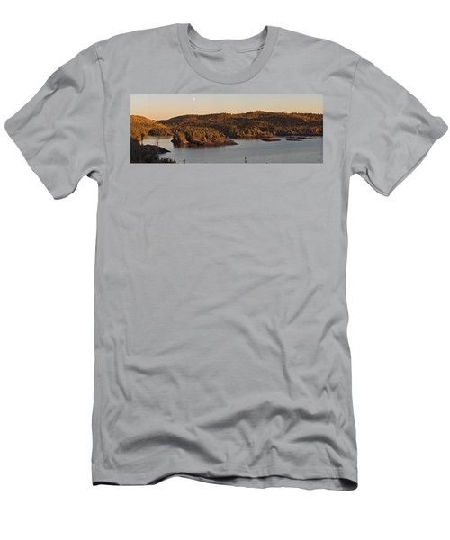 Moon Rise Over Pukaskwa Men's T-Shirt (Athletic Fit)