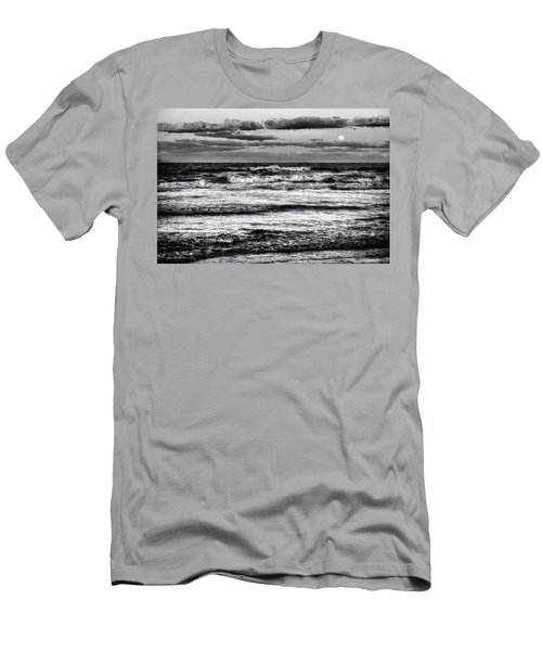 Men's T-Shirt (Slim Fit) featuring the photograph Moon Rising  by Louis Ferreira
