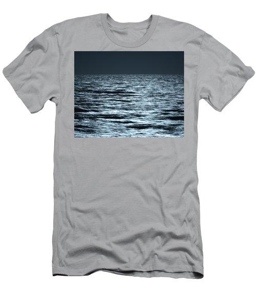 Moonlight On The Ocean Men's T-Shirt (Slim Fit) by Nancy Landry