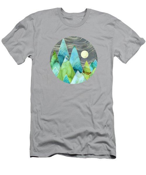 Moonlit Mountains Men's T-Shirt (Athletic Fit)