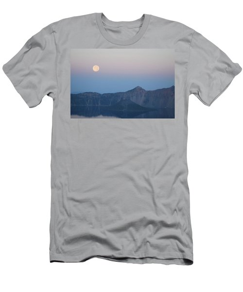 Moonset At Crater Lake Men's T-Shirt (Athletic Fit)