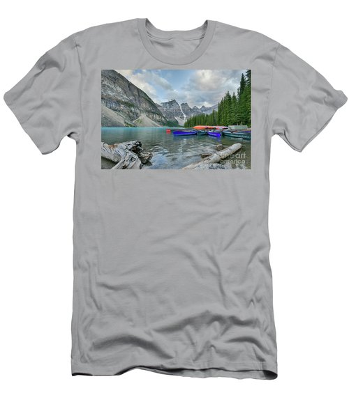 Moraine Logs And Canoes Men's T-Shirt (Athletic Fit)