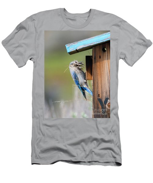 Men's T-Shirt (Slim Fit) featuring the photograph More Than Mouthful by Mike Dawson