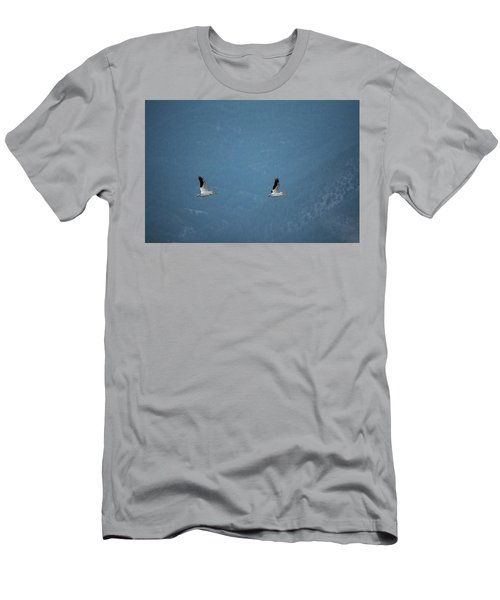 Men's T-Shirt (Slim Fit) featuring the photograph Morning Flight by Brian Duram