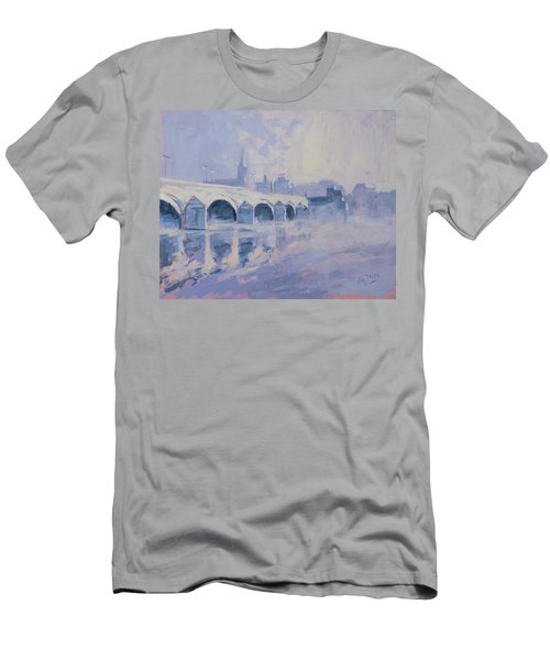 Morning Fog Around The Old Bridge Men's T-Shirt (Athletic Fit)