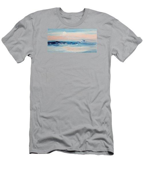 Morning Full Moon Men's T-Shirt (Athletic Fit)