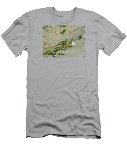 Men's T-Shirt (Slim Fit) featuring the photograph Morning Glory At The Beach by Mim White