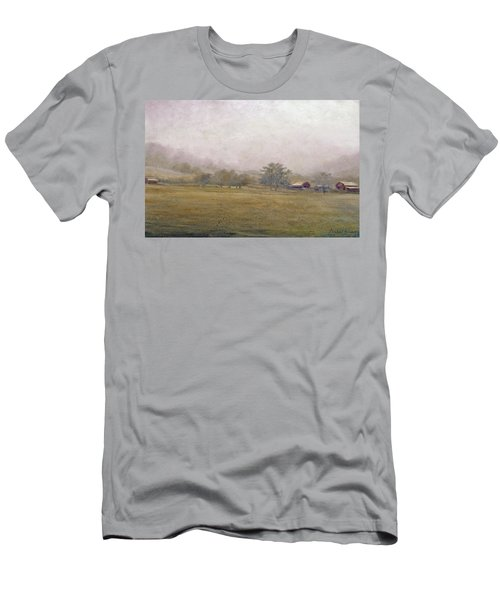 Men's T-Shirt (Athletic Fit) featuring the painting Morning In Georgia by Andrew King