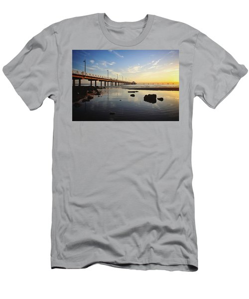 Morning Light Down By The Pier Men's T-Shirt (Athletic Fit)