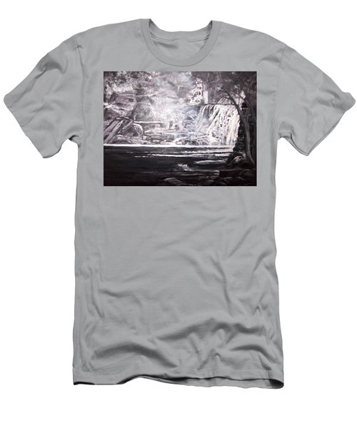 Morning Mist -theresa Falls Men's T-Shirt (Athletic Fit)