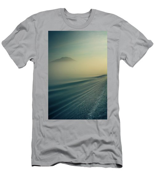 Morning Ocean Abstract Men's T-Shirt (Athletic Fit)