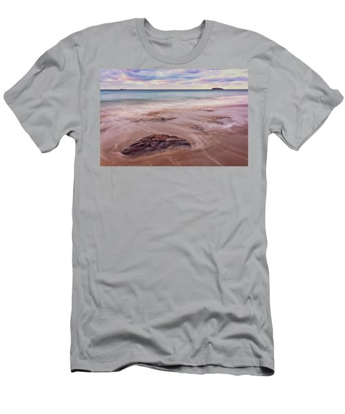 Men's T-Shirt (Athletic Fit) featuring the photograph Morning Pastels Singing Beach Ma by Michael Hubley