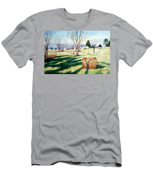 Morning Sun On Haybales Men's T-Shirt (Athletic Fit)
