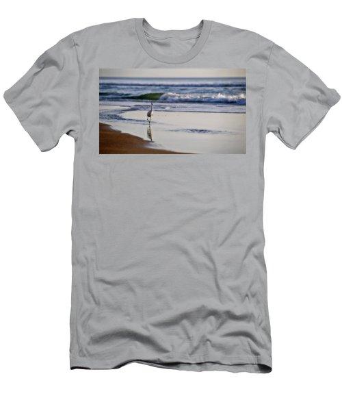 Morning Walk At Ormond Beach Men's T-Shirt (Slim Fit) by Steven Sparks