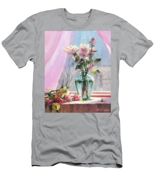 Men's T-Shirt (Athletic Fit) featuring the painting Morning's Glory by Steve Henderson