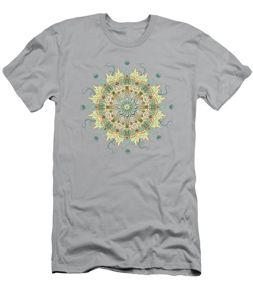 Men's T-Shirt (Slim Fit) featuring the digital art Morris Artful Garden Mandala by Deborah Smith