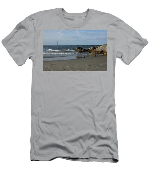 Men's T-Shirt (Slim Fit) featuring the photograph Morris Lighthouse by Sandy Keeton