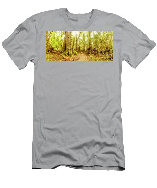 Mossy Forest Trails Men's T-Shirt (Athletic Fit)