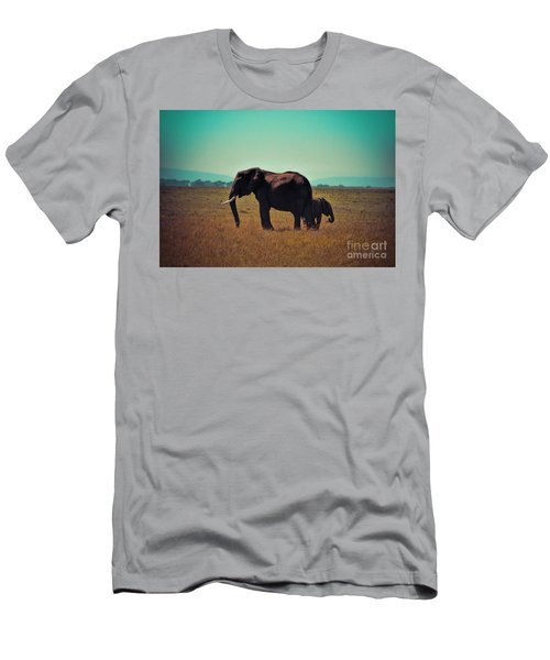 Men's T-Shirt (Slim Fit) featuring the photograph Mother And Child by Karen Lewis