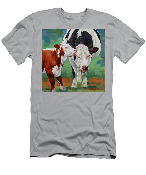 Mother And Son Men's T-Shirt (Slim Fit) by Margaret Stockdale