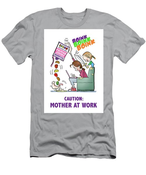 Men's T-Shirt (Athletic Fit) featuring the digital art Mother At Work by Mark Armstrong
