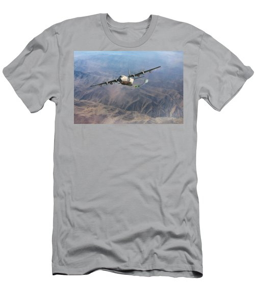 Men's T-Shirt (Slim Fit) featuring the digital art Mother Do You Think They Will Drop The Bomb by Peter Chilelli