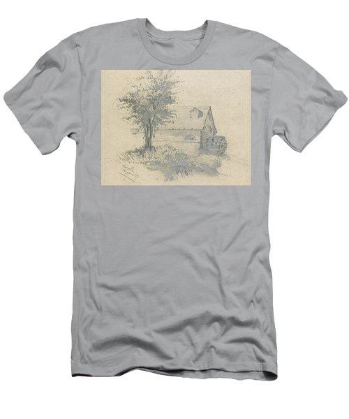 Moulin On The Lezarde Men's T-Shirt (Athletic Fit)