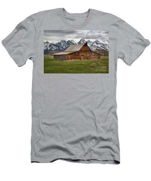 Moulton Barn Spring Storms Men's T-Shirt (Slim Fit) by Adam Jewell