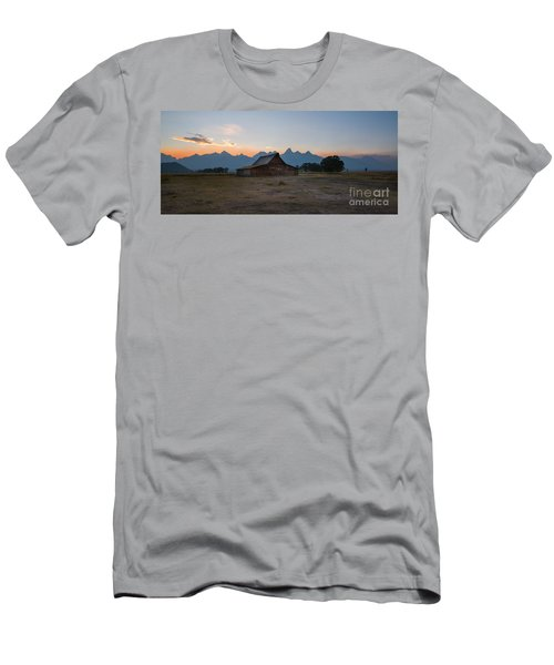 Moulton Ranch Sunset On Mormon Row Men's T-Shirt (Athletic Fit)