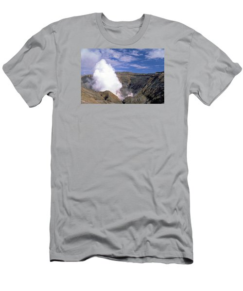 Men's T-Shirt (Slim Fit) featuring the photograph Mount Aso by Travel Pics
