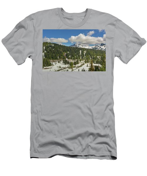 Mount Rainier National Park Tatoosh Range Men's T-Shirt (Athletic Fit)