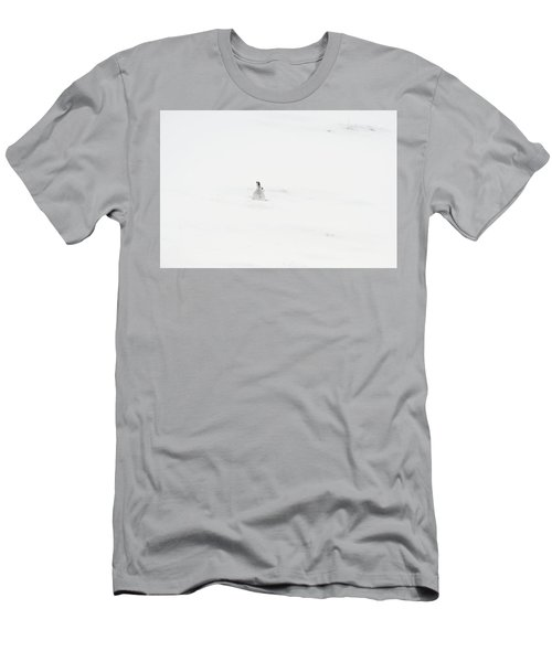 Mountain Hare Small In Frame Left Men's T-Shirt (Athletic Fit)