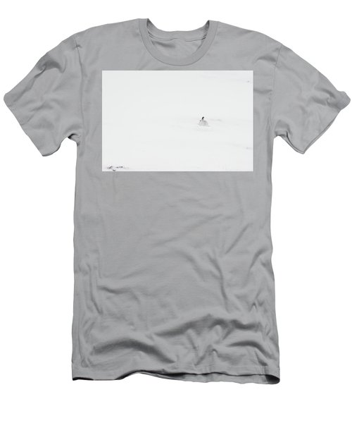 Mountain Hare Small In Frame Right Men's T-Shirt (Athletic Fit)
