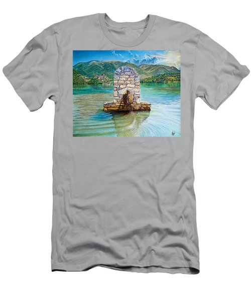 Mountain Lake  Men's T-Shirt (Slim Fit)
