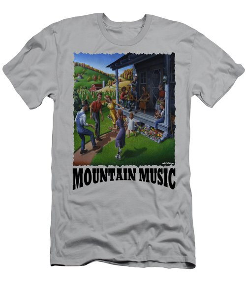 Mountain Music - Porch Music Men's T-Shirt (Athletic Fit)