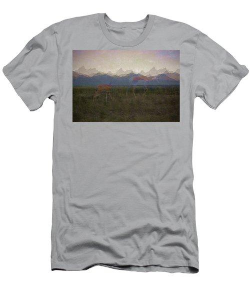 Mountain Pronghorns Men's T-Shirt (Athletic Fit)